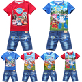 fashion short sleeve kids children t shirt denim  shorts toddler baby clothes suit  boys clothing sets summer 2016