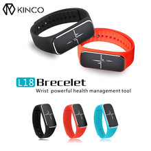 L18 Bluetooth 4.0 сердечного ритма Приборы для измерения артериального давления сна Мониторы отслеживания шагов Поддержка Умные браслеты браслет для iOS и Android