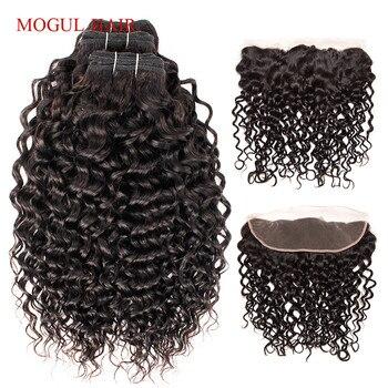 Tissage brésilien Remy naturel avec Frontal-MOGUL HAIR | Cheveux ondulés, 4x13, 2/3, extensions capillaires