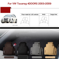 5pcs Custom Made 1/2 Thickness Solid Nylon Interior Odorless Floor Carpet Mats Cover Fitted For VW Touareg 2003 09