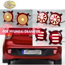 цена на For Hyundai Grand I10 2017 2018 Multi-function 12V LED Reflector Lamp Rear Fog Lamp Taillight Rear Bumper Light Brake Light