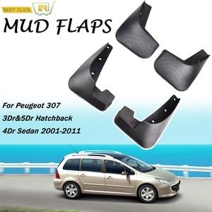 Image 1 - Car Mud Flaps For Peugeot 307 3dr & 5dr Hatchback Hatch 4 Door Sedan 2001 2011 Mudflaps Splash Guards Mud Flap Mudguard Fender