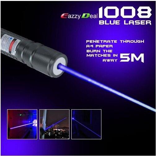 Haute Puissance 2000 m 405nm lampe de Poche Violet Laser Bleu Pointeur/UV Violet Lazer Torche Brûler Matchs, Brûler Contrefaçon détecteur,