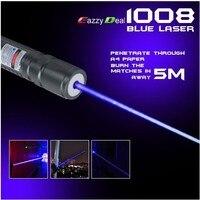 Yüksek Güç 2000 m 405nm Feneri Menekşe Mavi Lazer Pointer/UV Mor Lazer Meşale Yanık Maçları, Yanık Sahte dedektör,