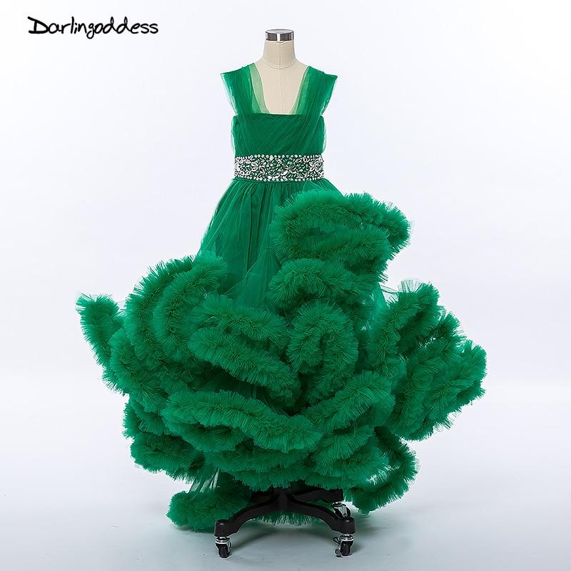Turquoise Flower Girl Dresses Awan untuk Perkahwinan Kanak-kanak Bengkak Pageant Pakaian 2017 Pakaian Perjamuan Pertama untuk Pakaian Girl Little