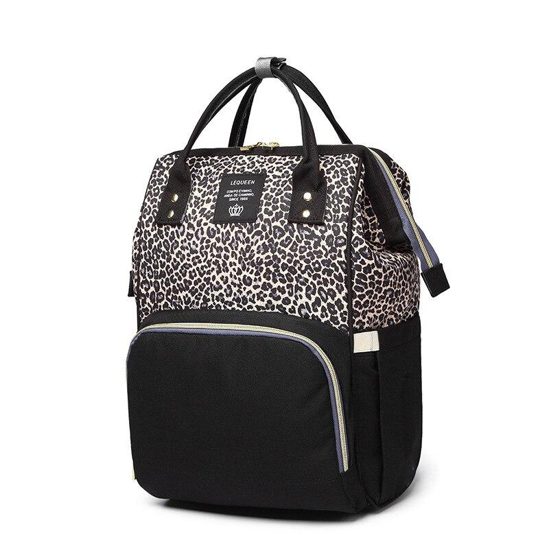 LEQUEEN-sac à couches pour femmes | Sacoche de voyage, en léopard, grande capacité, mode maman, pour maternité, tendance
