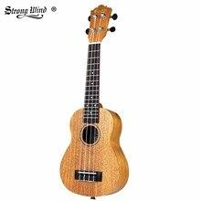 Сильный ветер из красного дерева Тенор укулеле 21 дюймов для начинающих гитара Акустическая гитара ra Тенор укулеле 4 нейлоновые струны 15 ладов музыкальная гитара
