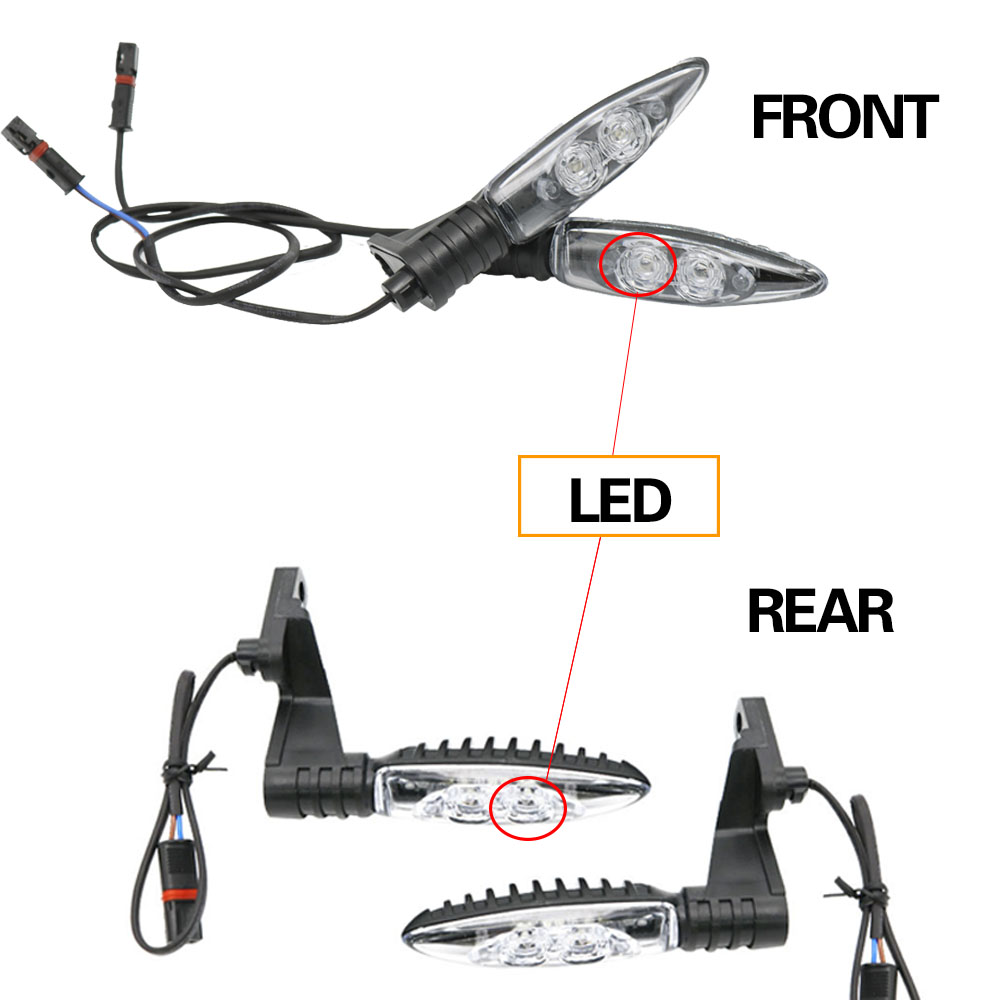 LED Flasher Indicators Turn-Signal-Lights NINE F800GS Motorcycles T-F650gs R1200 S1000R title=