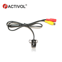 China Post Free Shipping 100% Waterproof night view small batterfly plug in universal Rear View Camera with parking line