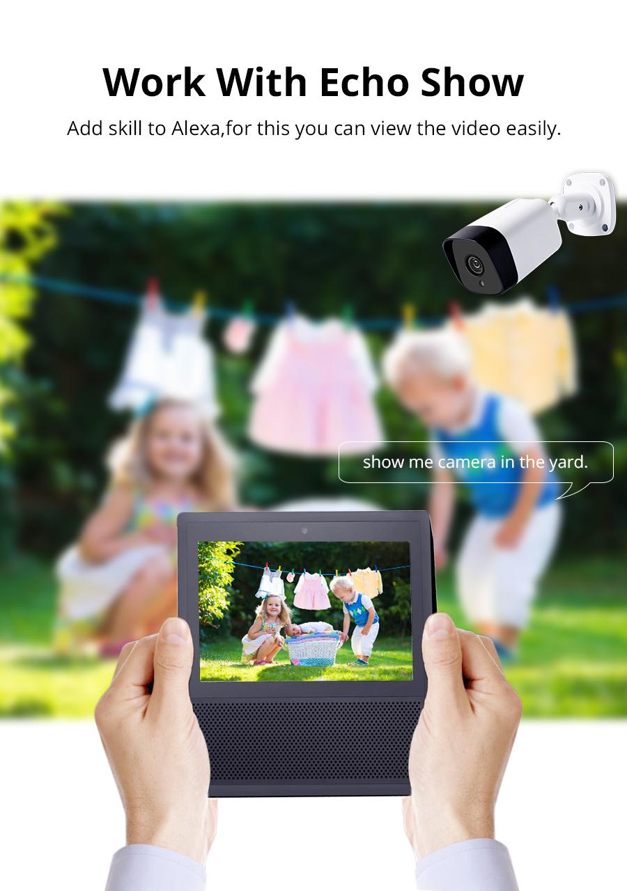 Tuya WiFi CCTV Camera IP66 Waterproof Outdoor Intercome Work with Alexa  Echo Show Smart Home Security Alarm
