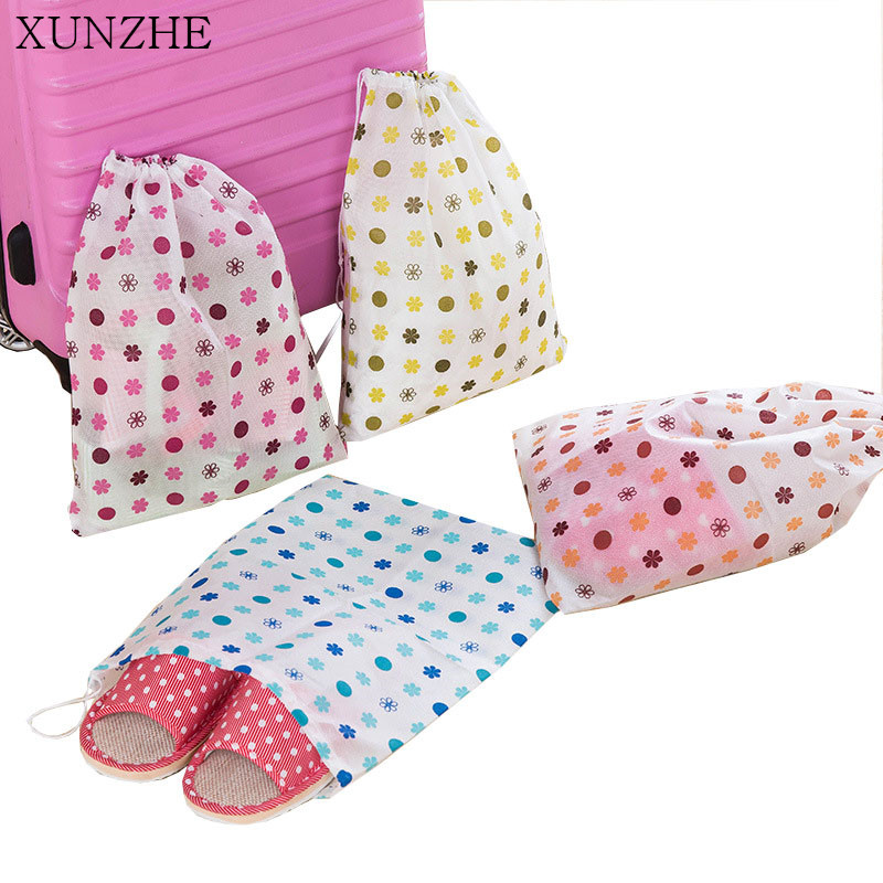 XUNZHE 2PC Home Non-Woven Fabrics Drawstring Clothing Storage Bags Organization Travel Portable Dust-Proof Shoe Storage Pouch
