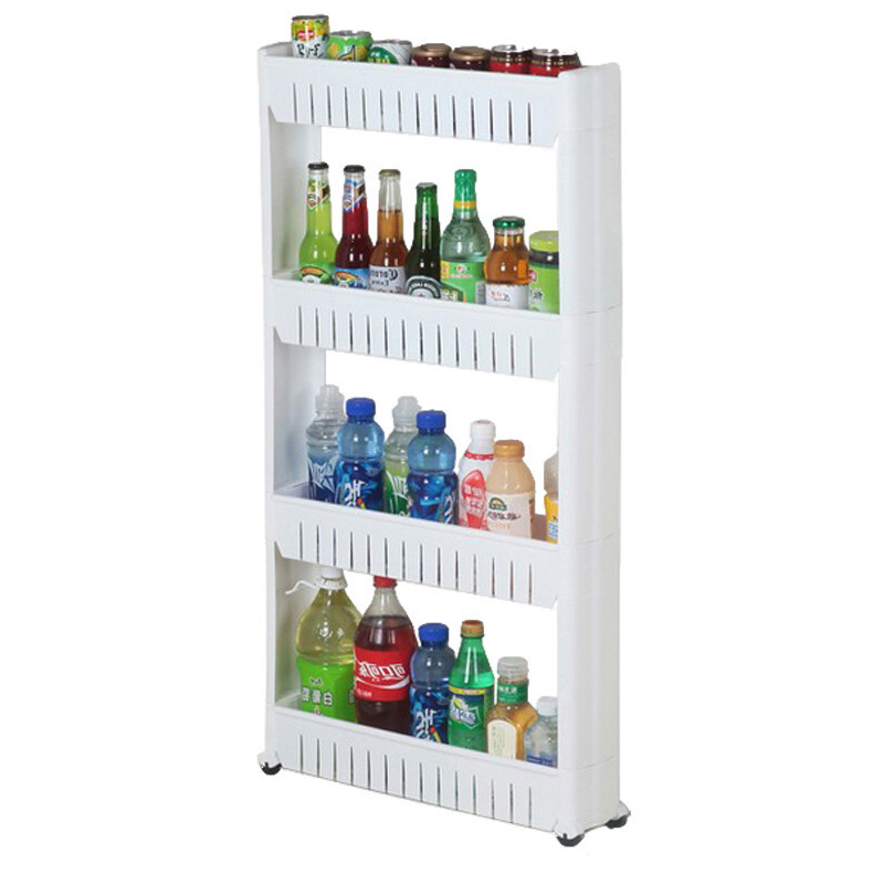 Multifunctional Storage Shelf Movable Save Space Rack Multi-layer Standing Tool Kitchen Bathroom Holding Rack Home Supplies