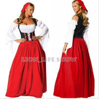 German Women Beer Costume Red Disfraces Carnaval Halloween Costumes for Women