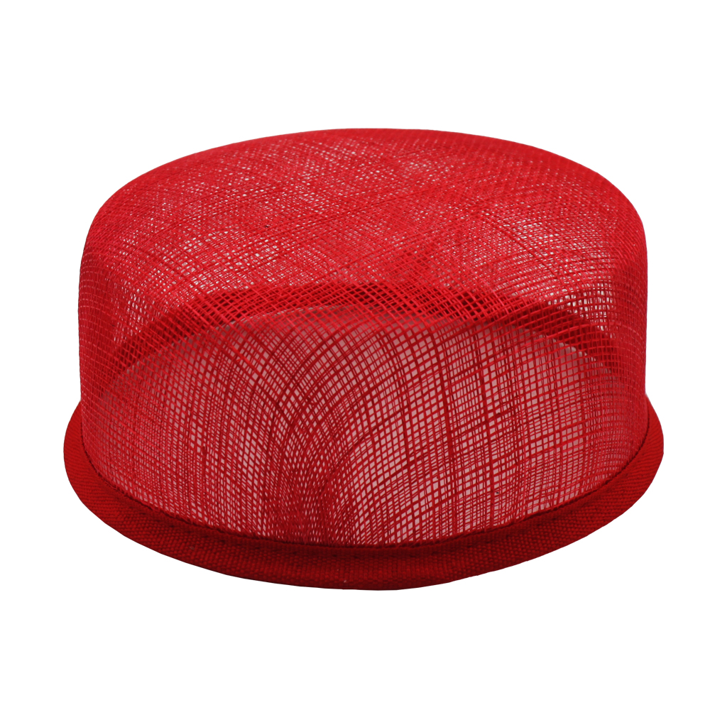 14 * 14cm Sinamay Round Base Millinery Pillbox Base Hat Form pro ženy 10ks / lot # 3Color