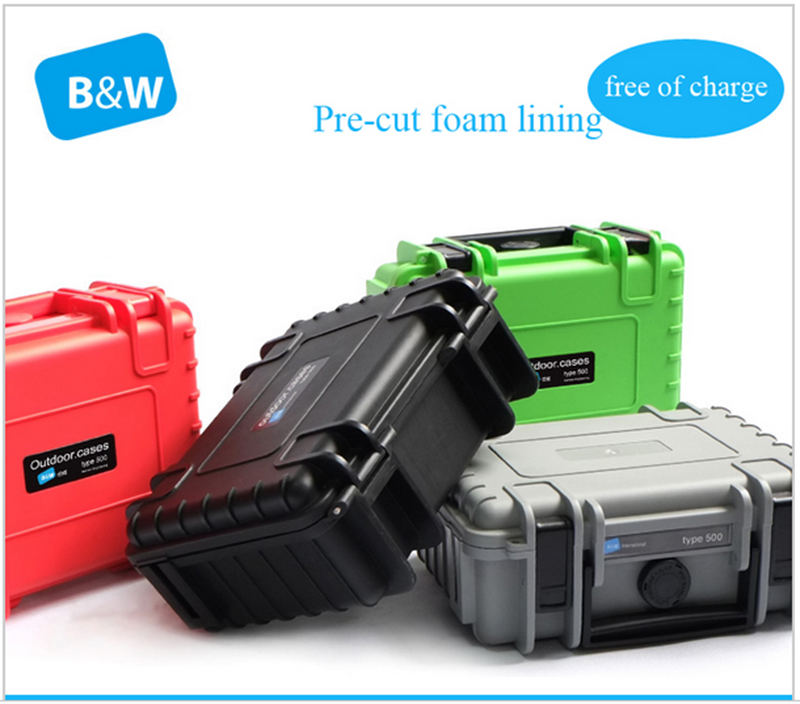 263x206x106mm ABS Tool Case Toolbox Impact Resistant Sealed Waterproof Safety Case Equipment Camera Case With Pre-cut Foam