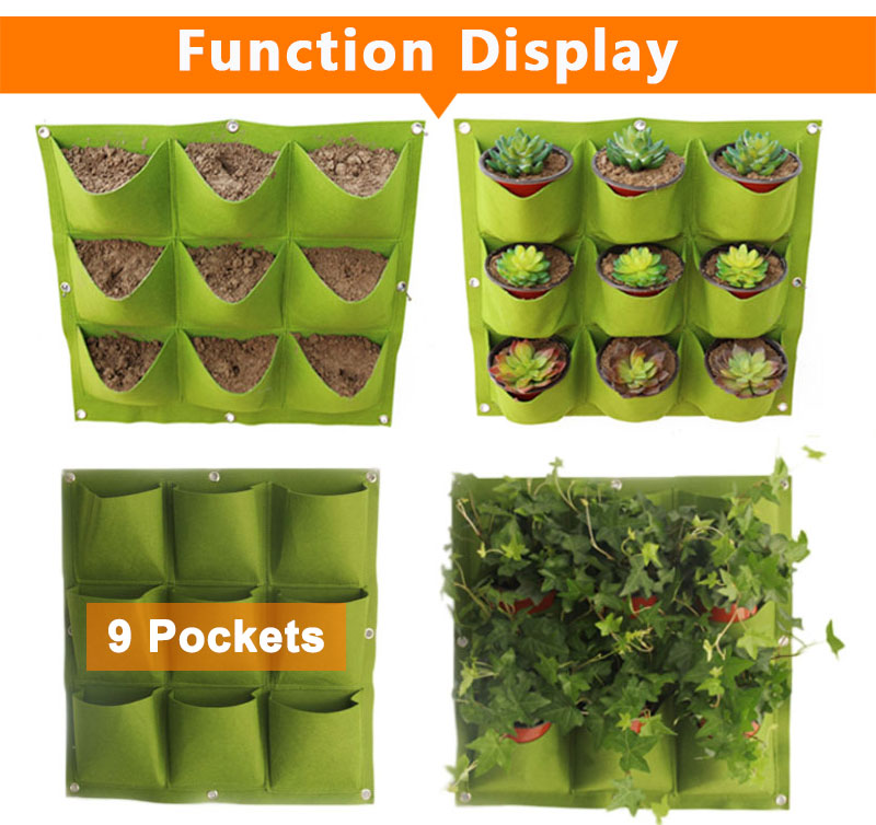 HTB1MGJzCTJYBeNjy1zeq6yhzVXaA - Wall Hanging Planting Bags Pockets Green Grow Bag Planter