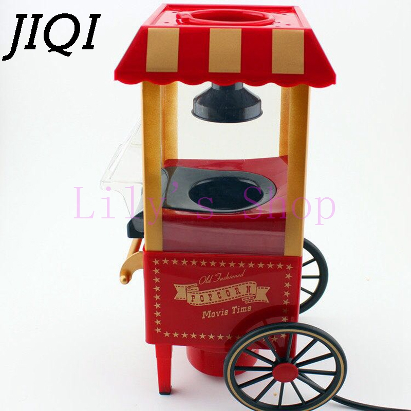 Horse cart type mini popcorn machine gift classic household Electric Hot Air Popcorn Maker pop Corn Popper 110V 220V EU US plug pop 06 economic popcorn maker commercial popcorn machine with cart