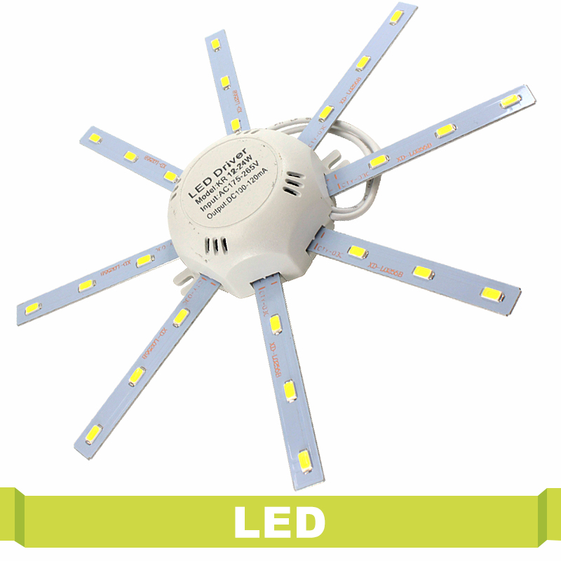 12W 16W 24W Modified Light Source Lamp Plate Octopus 5730 SMD LED PCB Ceiling Lamp Plate Cold White for Round Kitchen Bedroom mlsled mls xd32 16w 16w 1100lm 160 smd 3014 led white ceiling light white 100 240v