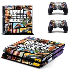 PS4 Skin Sticker GTA 5 for Sony PS 4 Playstation 4 Console and Two Controller Skins