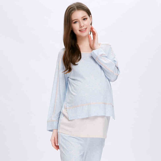 Sleepwear Nightgowns Nursing Clothes Maternity Hamile Gecelik Mother Nighties Maternity Clothes Pregnancy Summer 2016 70M047