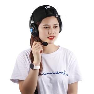 Image 3 - Kebidu 1.9m com fio computador gaming fone de ouvido com microfone casque áudio mudo interruptor cancelamento ruído fone de ouvido para ps4 sony playstation