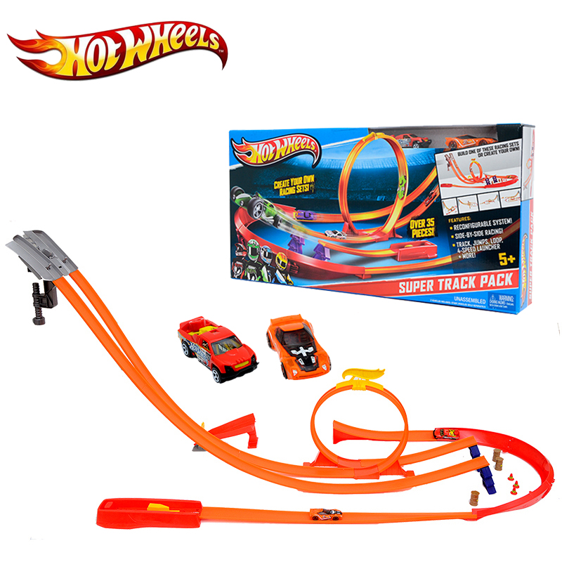 Hot Wheels Model Y0276 Car Track Toy Vehicles Kids Toys Plastic Metal Miniatures Hotwheels Cars Track Classic Boy Toy Car electronic hot wheels track exclusive figure 8 raceway with 6 cars motorized 3 track layouts educational truck toy for boy x2586