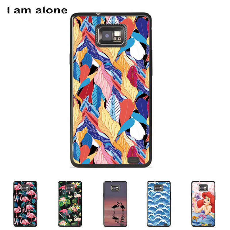 For Samsung Galaxy S II S2 I9100 4.3 inch Solf TPU Silicone Shell Color Paint Case Mobile Phone Cover Bag Cellphone Skin Mask