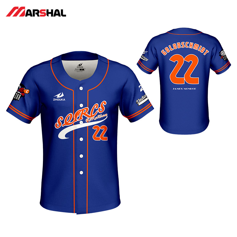 0baddcb99 Professionalized design fro mens custom sublimated sportswear training baseball  shirt button down custom on line