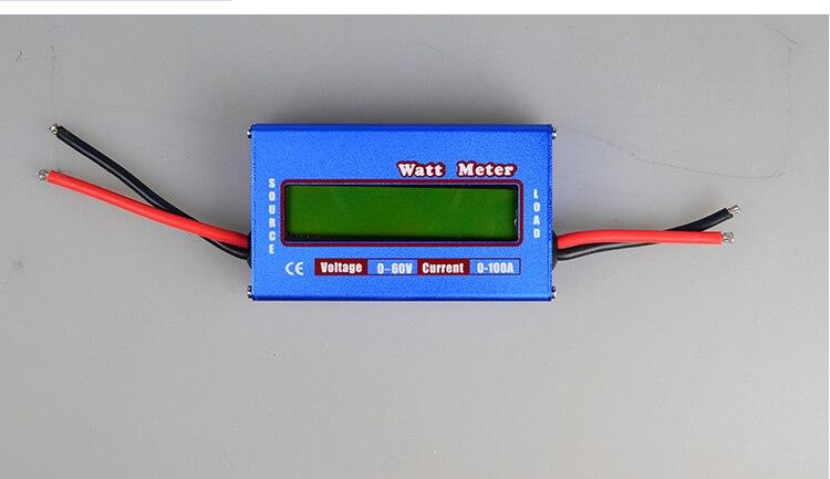 US $5 0 |Blue DC 60V 100A Balance Voltage Battery Power Analyzer RC Watt  Meter Checker Professional Watt Meter Balancer Charger RC Tools-in Parts &