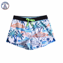 Women Summer Shorts Casual Drawstring Waistband Coconut print Beach Style Swim Pool with Pocket Loose Female Shorts цена 2017