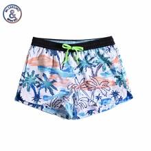 Women Summer Shorts Casual Drawstring Waistband Coconut print Beach Style Swim Pool with Pocket Loose Female Shorts