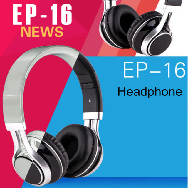 Big Promotion!!!Foldable Headphones Stereo Surround 3.5mm Headband Headset Earbuds For Samsung For HTC Earphones With Mic Audio