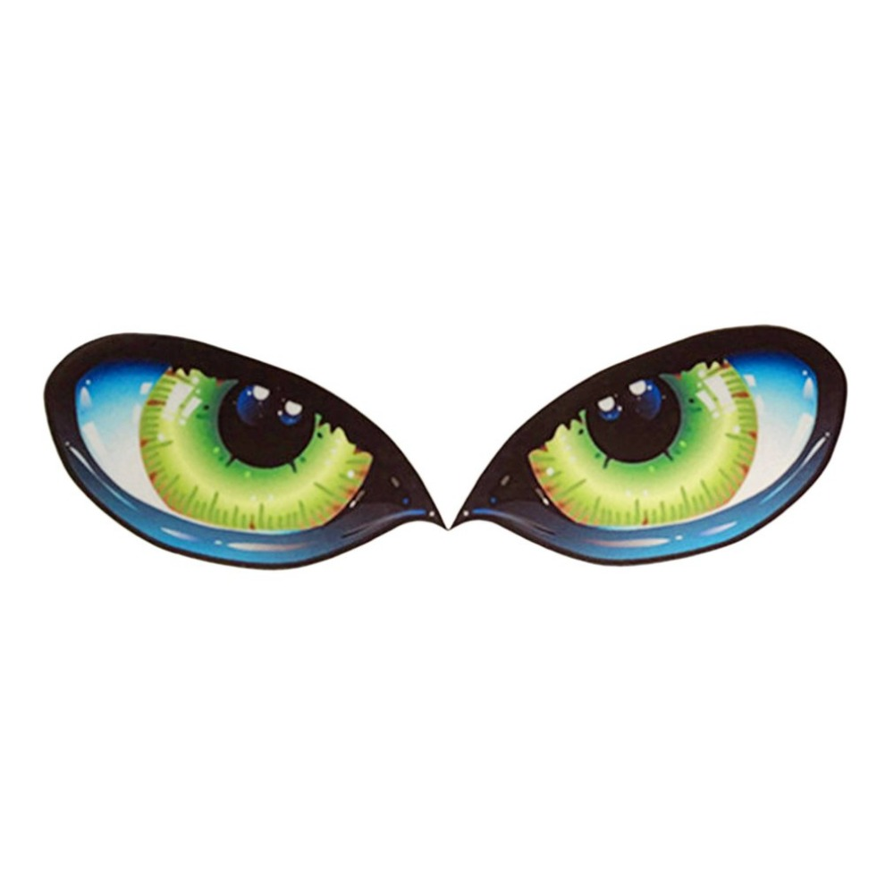 New 2pcs Lifelike 3D Eyes Car Stickers Reflective Decal Fashion Car Engine Cover Rearview Mirror Decor for Cars Trucks hot sale