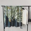 Women Cotton Scarf Fresh Leaves Print Scarves w/ Tassels Multifunctional Bandana NEW 175 x 105 cm [1845]