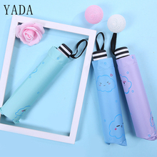 YADA Creative Design Clouds Pattern Folding Rainy Umbrella UV Rainproof Sun Protection Parasol Good Mood Cloud YD138