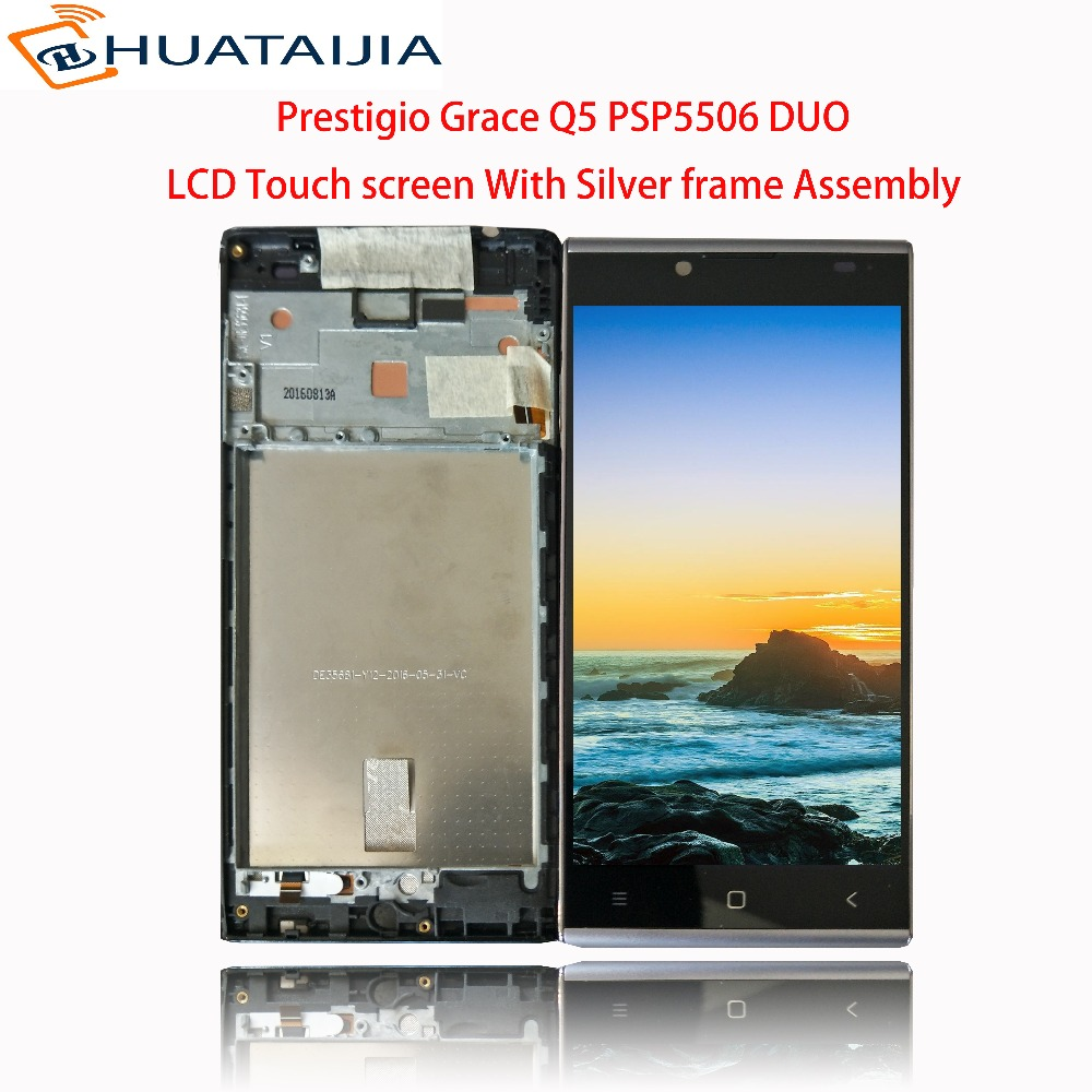 LCD Display + Touch screen For Prestigio Grace Q5 PSP5506 DUO PSP5506 PSP 5506 DUO digitizer panel sensor lens glass Assembly 5 lcd display touch screen for prestigio muze d3 psp3504 psp3504duo digitizer panel sensor lens glass assembly free shipping