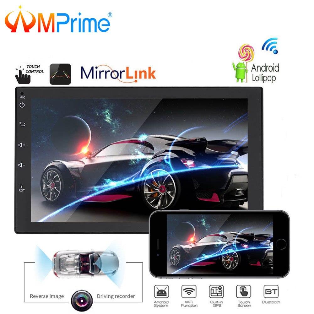 AMPrime Android автомобильный Радио 2 Din gps навигация Авторадио 7 2Din автомобильный мультимедийный плеер USB Mirrorlink авто стерео Поддержка DVR BT