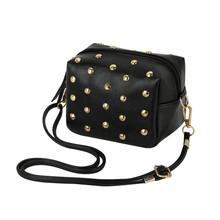 Ladies spring women mini type luxurious clutch women mobile evening purse new rivet casual crossbody shoulder messenger baggage