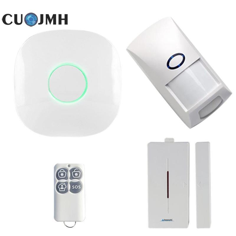 1 Set Gsm Wireless 433 Smart Voice Home Burglar Alarm Ios Android App Control Home Security Gsm Mini Alarm System ios android app smart control wireless gsm touch lcd shock window home secure burglar system