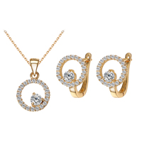 Top Selling High Quality Dubai Ladies Jewelry Fashion Silver Earings Necklace Plated Jewellery Sets