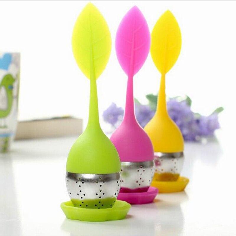 Edelstahl Tee-ei Edelstahl Tee Ball Blatt Tee Sieb für Brau Gerät Herbal Spice Filter Küche Werkzeuge