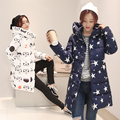 Winter slim down cotton-padded jacket medium-long wadded jacket female thickening cotton-padded jacket plus size