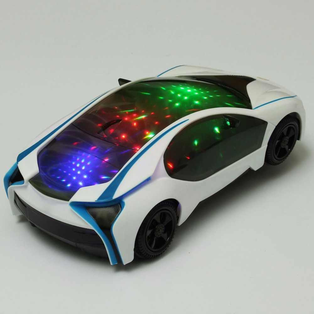 Cool LED Light Music Electric Flashing Cars Toys Universal For Children Early Educational Sound Car Toys Boys New Year Gift Hot