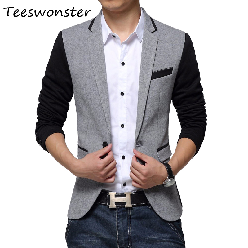 Teeswonster Slim Fit Casual Blazer Mens Suit Jacket Male