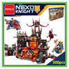 Lepin Building Brick Nexoe Knights Volcano Lair Castle Model Building Kits Compatible With Lepin City 3D