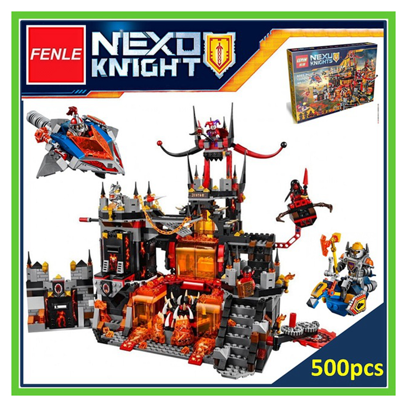 lepin building brick Nexoe Knights Volcano Lair castle Model building kits compatible with lepin city 3D blocks Educational toys compatible city lepin 02005 889pcs the volcano exploration base 02005 building blocks policeman educational toys for children