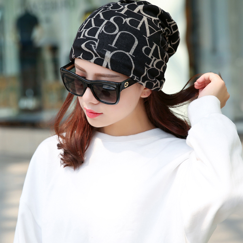 New Korea Brand Hip-Hop Hat &Sacrf Women Knitted Hat Skullies Lady Touca Letter Gorro Piles Cap Fashion Beanies Womens Hat