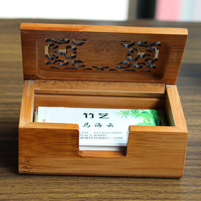 Retro hollow out wood id credit card business cards storage box retro hollow out wood id credit card business cards storage box jewelry treasure desktop case home reheart Images