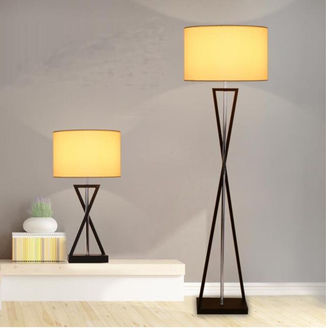 Buy Iron Fabric Led Art Deco Modern Standing Lights Living Room