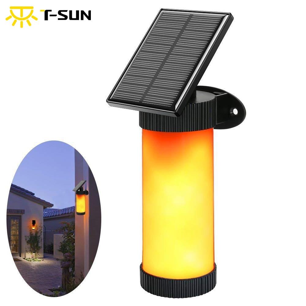 T-SUN Flamme Vacillante Wall Light Lampe de Jardin En Plein Air lampe Décorative Haloween/De Noël Étanches lumières de noël en plein air